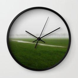 Foggy Landscape - JUSTART © Wall Clock