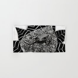 The Poisonous Frog. Don't Kiss Me, I'm Not A Prince -  Abstract Doodle Zentangle Art  Hand & Bath Towel