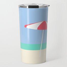 Umbrella on Playa Blanco | Cartagena, Colombia Travel Mug