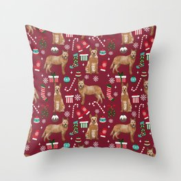 Australian Cattle dog christmas presents stockings candy canes winter dog breed lover Throw Pillow