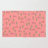 cacti Area & Throw Rugs featuring Cacti by Cale potts Art