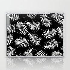Black and white palm leaves pattern Laptop & iPad Skin