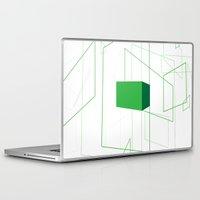 blueprint Laptop & iPad Skins featuring Blueprint #1 (green) by iamerichiggins