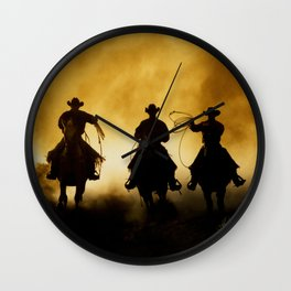 Three Cowboys Western Wall Clock