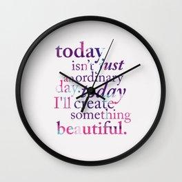 Today - Multicolor Wall Clock