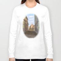 vienna Long Sleeve T-shirts featuring Nostalgia in Vienna by Vargamari