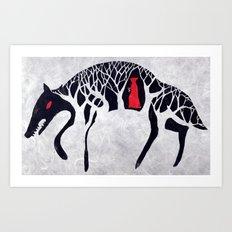 L'il Red Riding Hood Art Print