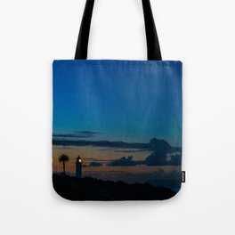 The Lighthouse on the Point Tote Bag