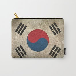 Old and Worn Distressed Vintage Flag of South Korea Carry-All Pouch