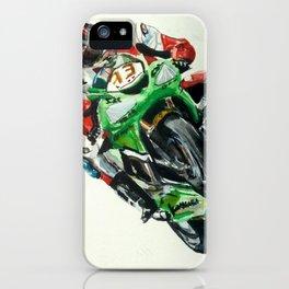 Moto racer iPhone Case