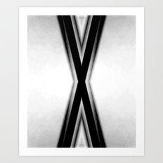 Double X Art Print