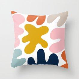 Blob Collage - Multi Throw Pillow