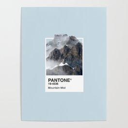 Pantone Series – Mountain Mist Poster