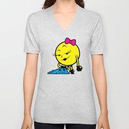 Ms. Pac-Man Unisex V-Neck