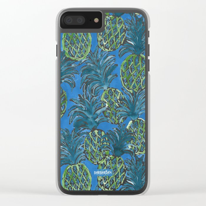 LAPIS PINEAPPLE O'CLOCK Tropical Print Clear iPhone Case