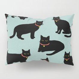 Black cats / Illustration / Pattern Pillow Sham