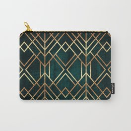 Dark Teal Geo Carry-All Pouch