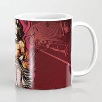 lolita Mugs featuring Flaming Lolita by Katie Badenhorst