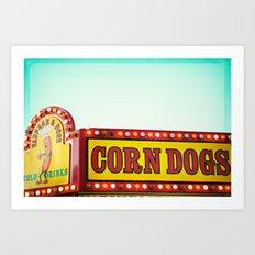 Corn Dogs Art Print