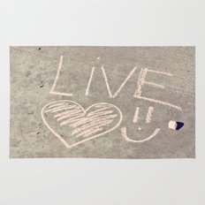 Live Love and Smile Often Rug