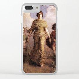 The Virgin 1893 Abbott Handerson Thayer Clear iPhone Case