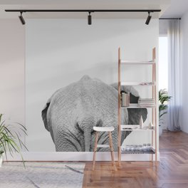 Elephant Back Photo | Black and White Wall Mural