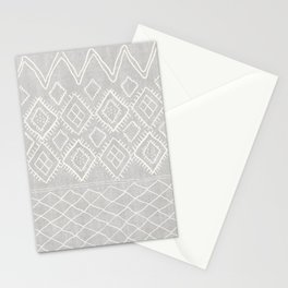 Beni Moroccan Print in Grey Stationery Cards