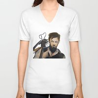 daryl V-neck T-shirts featuring Daryl by Brittany Ketcham