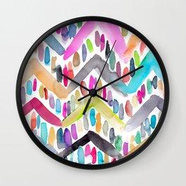 Candy Chevron Wall Clock