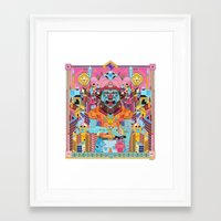 ice cream Framed Art Prints featuring ice cream by yoaz