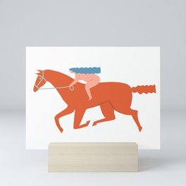 Naked derby Mini Art Print