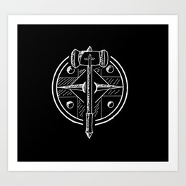 Hammer and Shield Art Print