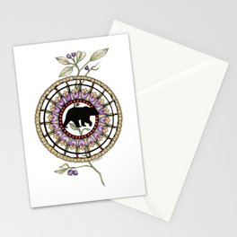 Bear Mandala Stationery Cards