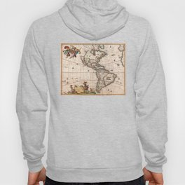 North & South America map 1658 with 2017 enhancements Hoody
