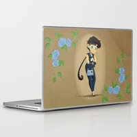 transistor Laptop & iPad Skins featuring Retro Sailor Star Fighter by Crimson Pumpkin
