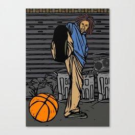 Street basketball player Canvas Print