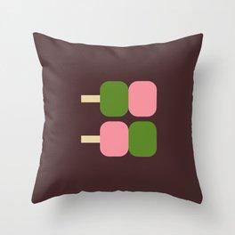 Japan Dango Sweet Throw Pillow