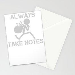 Lustiges Musiklehrer Chorleiter Musiker Geschenk Musiknoten Stationery Cards