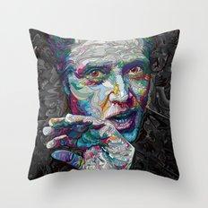 christopher walken portrait  Throw Pillow