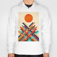 sun Hoodies featuring Sun Shrine by Picomodi