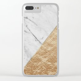 Golden jazz marble Clear iPhone Case