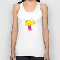 cheese Tank Tops featuring Cheese by Wesley Fry