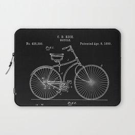 Vintage Bicycle patent illustration 1890 Laptop Sleeve