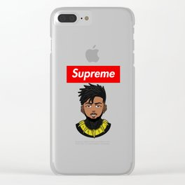 Supreme Killmonger Clear iPhone Case