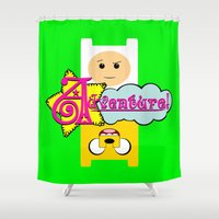 adventure Shower Curtains featuring Adventure! by Silvio Ledbetter