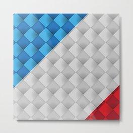 Square Tiles Art Metal Print