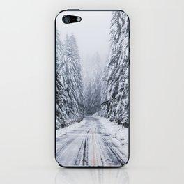 Snowy Oregon Forest Roads iPhone Skin