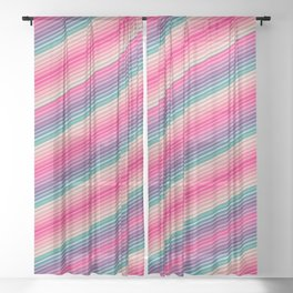 Lovely Pink Spectrum Sheer Curtain