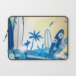 surfboard  background on sky background Laptop Sleeve