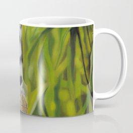 Ring Tail Lemur, A Realistic Pastel Artwork Coffee Mug